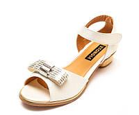 Туфли Fashion A02(32-37)бел.золото каблук 32