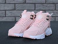 "Зимние кроссовки на меху Nike Huarache X Acronym City Winter ""Pink White"" - ""Розовые Белые"" (Копия ААА+)"