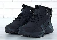 """Зимові кросівки на хутрі Nike Huarache X Acronym City Winter Fur """"Black"""" - """"Чорні"""" (Копія ААА+), фото 1"""