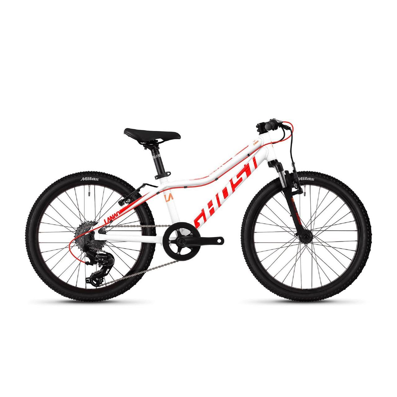 "Велосипед Ghost Lanao 2.0 AL W 20"" , бело-красно-оранжевый, 2019"