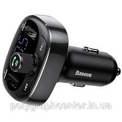 АЗП з FM-модулятором Baseus T typed Wireless MP3 Сharger Tarnish Черный