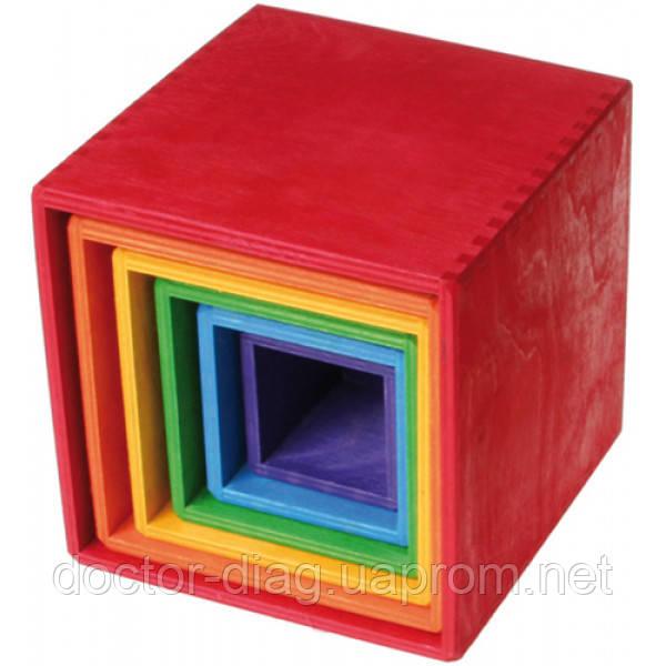 Grimm`s Пирамидка Grimm`s Кубы разноцветные
