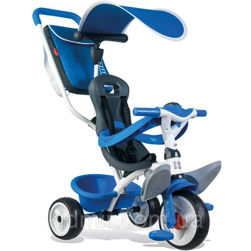 Велосипед трехколесный синий Be Move Smoby 741102