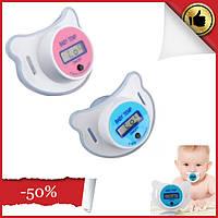 Детская соска пустышка термометр Baby Temp Pacifier. Пустышки для детей. Детский электронный термометр