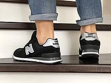 Мужские кроссовки в стиле New Balance 574 Черные, фото 3