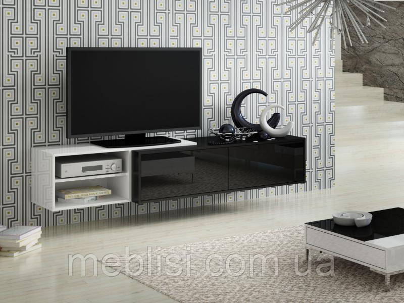 ТВ тумба Sigma 2 180 білий/чорний (CAMA)