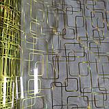 Клеенка Силикон 0.8 мм Мягкое Стекло Золото прозрачная без основы ширина 60 см, фото 3