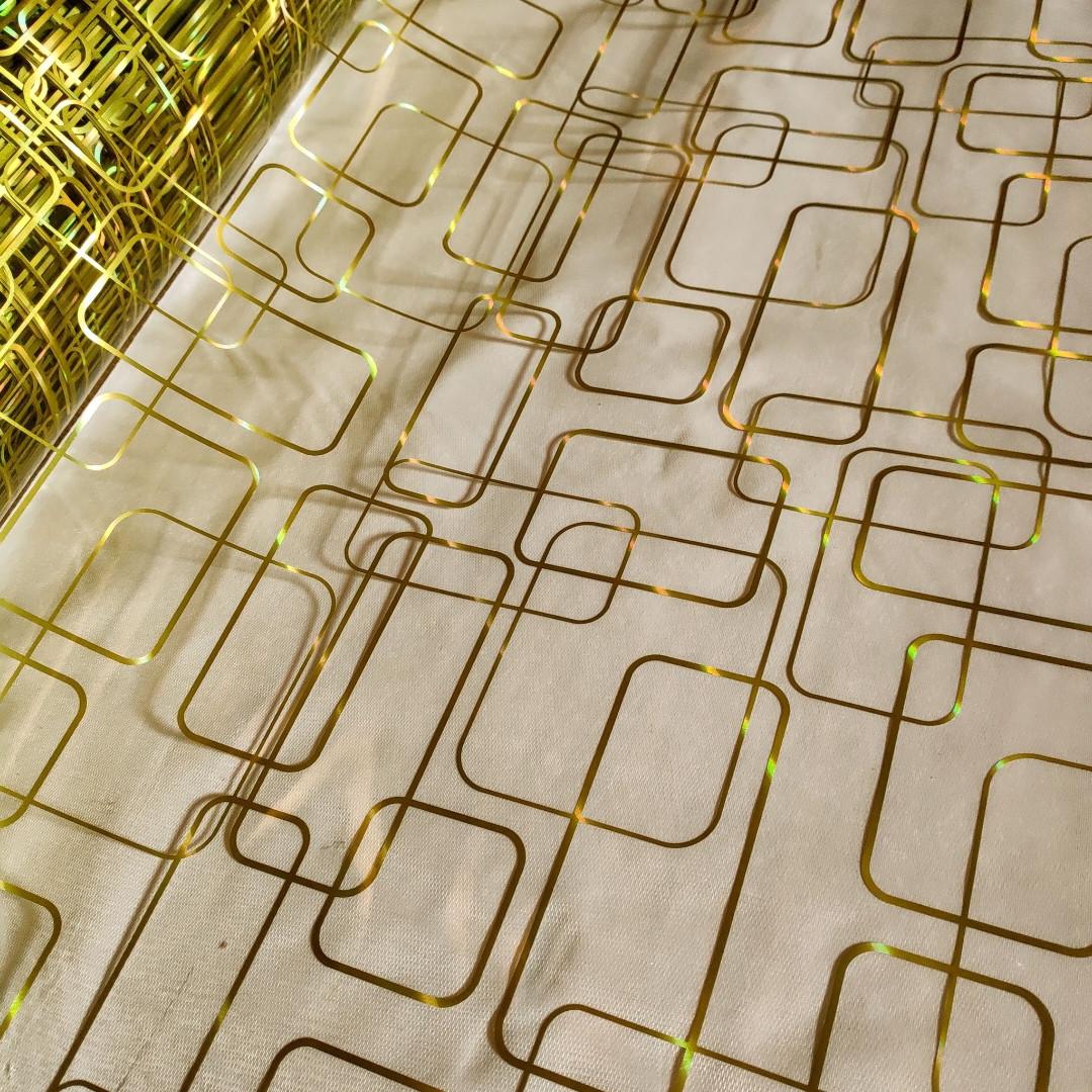 Клеенка Силикон 0.8 мм Мягкое Стекло Золото прозрачная без основы ширина 60 см
