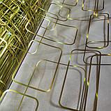 Клеенка Силикон 0.8 мм Мягкое Стекло Золото прозрачная без основы ширина 60 см, фото 2