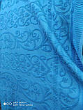 Махровая жаккардовая простынь 200*220 Тм By Ido  200*220 синий, фото 3