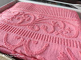 Махровая жаккардовая простынь 200*220 Тм By Ido  200*220 розовый, фото 2
