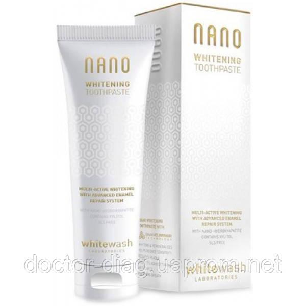 WhiteWash Laboratories Зубная паста WhiteWash Laboratories NANO отбеливающая с гидроксиапатитом (75 мл)