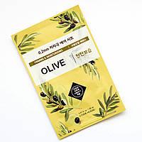 Тканинна маска для обличчя з екстрактом оливи ETUDE HOUSE 0.2 Therapy Air Mask, No. Olive 1шт