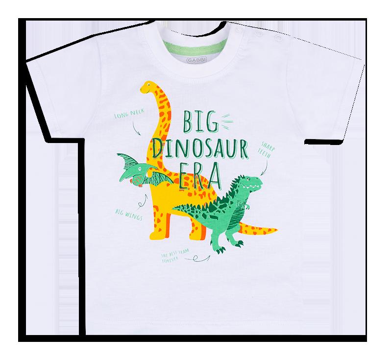 Детская футболка для мальчика FT-20-13-3 *Технозавр* (рр.86-98)