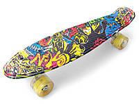 Скейт Penny Board Пенни борды Светящиеся колеса Цвет Джокер