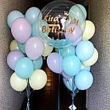 Оформление для девочки с шаром Баблс и латексными цветными шарами, фото 2