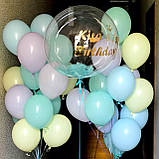 Оформление для девочки с шаром Баблс и латексными цветными шарами, фото 4