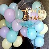 Оформление для девочки с шаром Баблс и латексными цветными шарами, фото 3