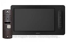 Комплект видеодомофона Arny AVD-7006 Черный / Медный (arny-000135)
