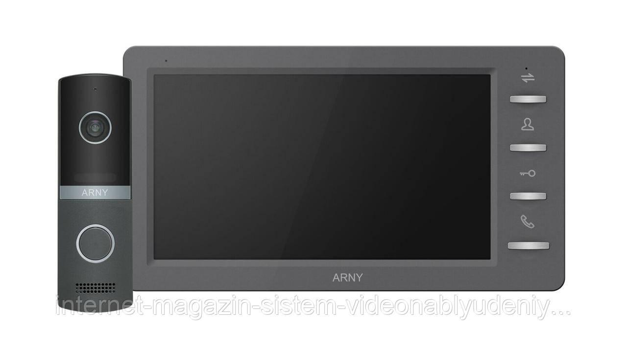 Комплект видеодомофона Arny AVD-7030 1MPX IPS 7''  Графит / Графит (arny-000144)
