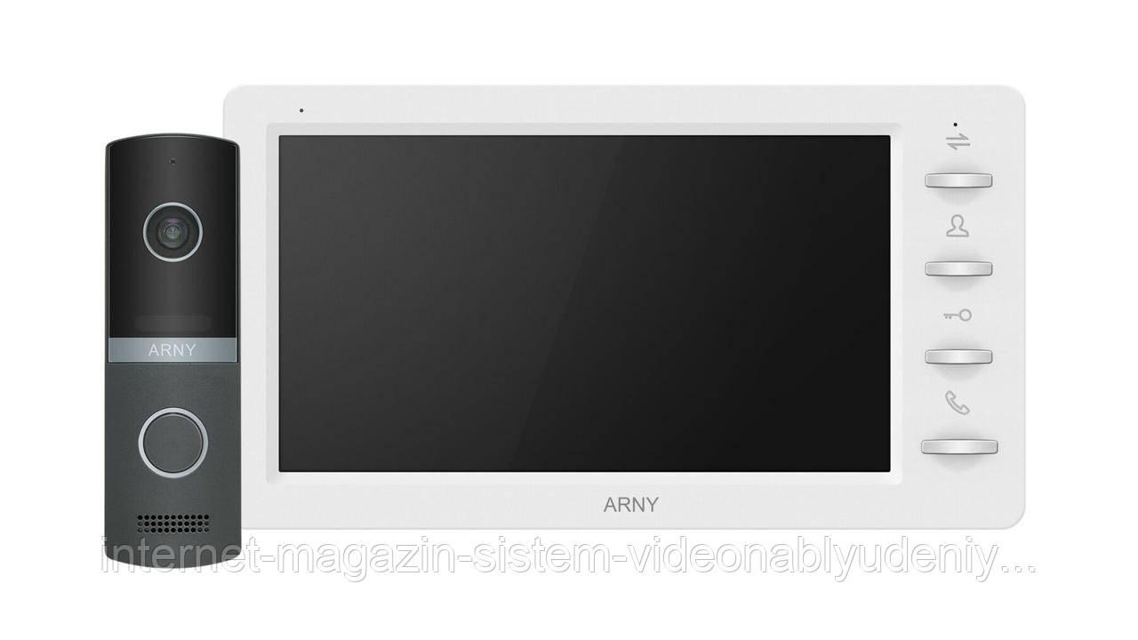 Комплект видеодомофона Arny AVD-7030 1MPX IPS 7''  Белый / Графит (arny-000141)