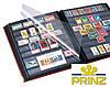 Альбом для марок Prinz Royal - натуральная кожа - 32 страницы - A4 - красная обложка