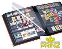 Альбом для марок Prinz Royal - натуральная кожа - 32 страницы - A4 - красная обложка, фото 1