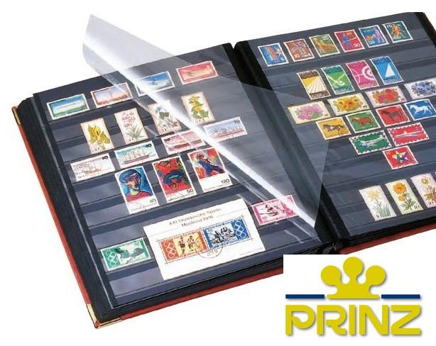 Альбом для марок Prinz Royal - натуральная кожа - 32 страницы - A4 - черная обложка, фото 1