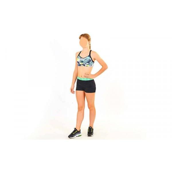 Топ для фитнеса и йоги VSX (черный-салатовый)