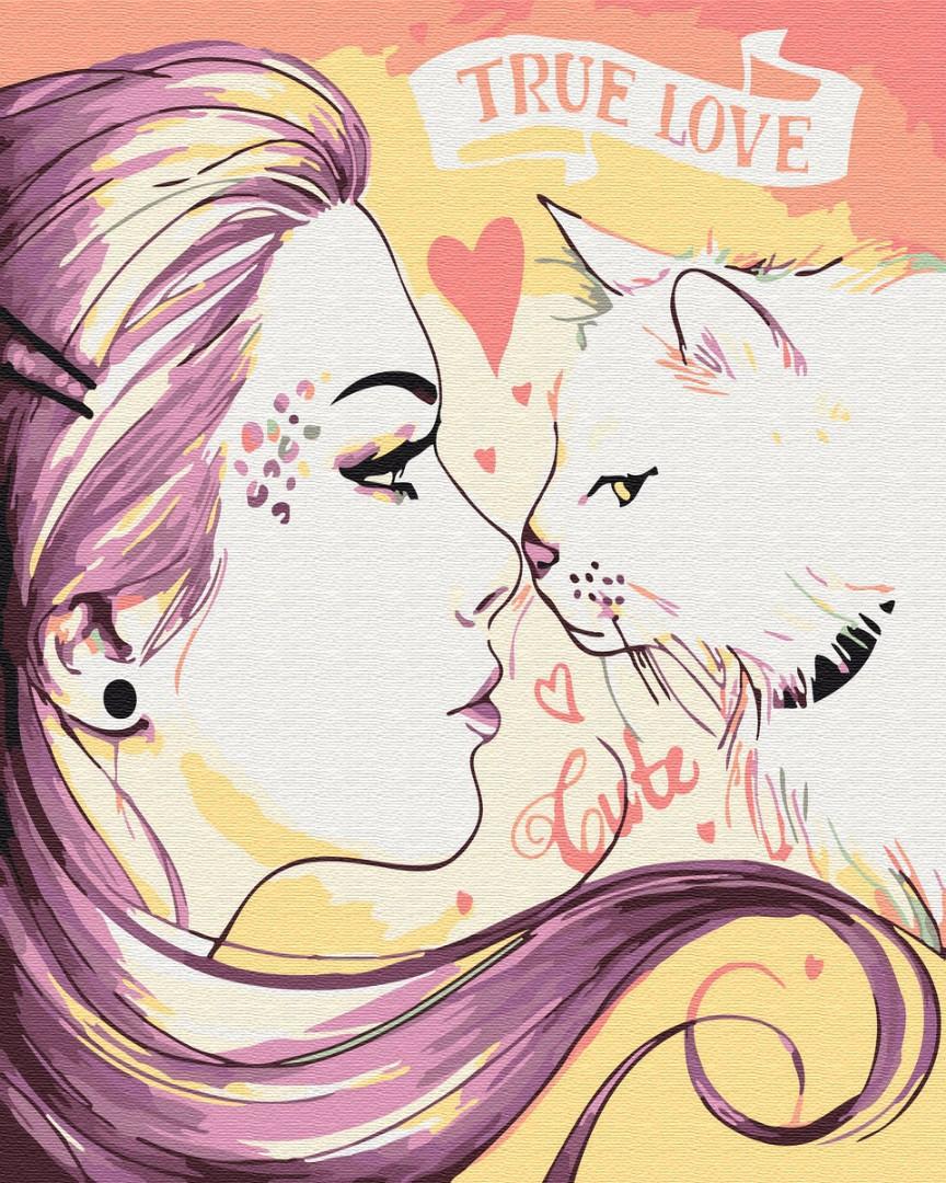 Картина по номерам Настоящая любовь GX26886 Brushme 40 х 50 см (без коробки)