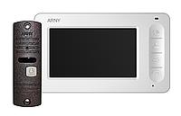 Комплект видеодомофона Arny AVD-4005 Белый / Медный
