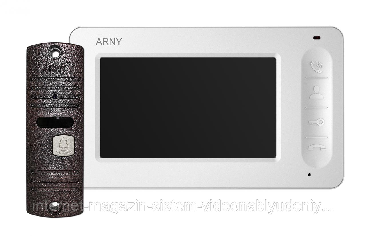 Комплект видеодомофона Arny AVD-7005 Белый / Медный (arny-000033)