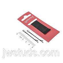 Набор черных невидимок 10 шт (прямая)  заколки для волос