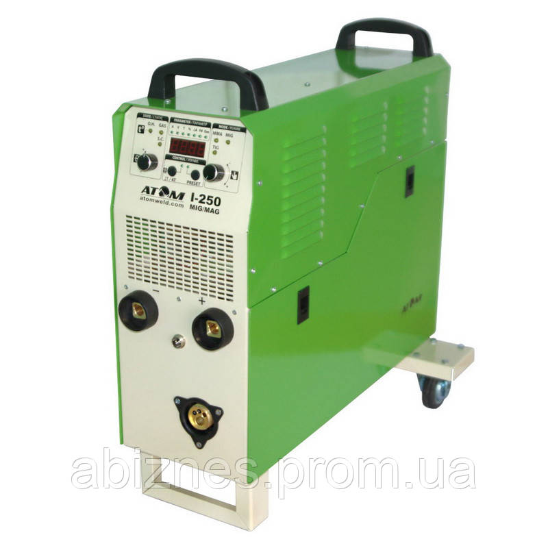 Полуавтомат инверторный АТОМ I-250 MIG/MAG 380V с горелкой и комплектом сварочных кабелей (вариант X)
