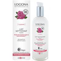 Logona Logona БИО-Молочко очищающее для сухой и чувствительной кожи Роза и Алое, 125 мл (733003)