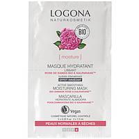 Logona Logona БИО-Маска для лица увлажняющая для сухой и чувствительной кожи Роза и Алоэ, 2х7.5 мл (733013)