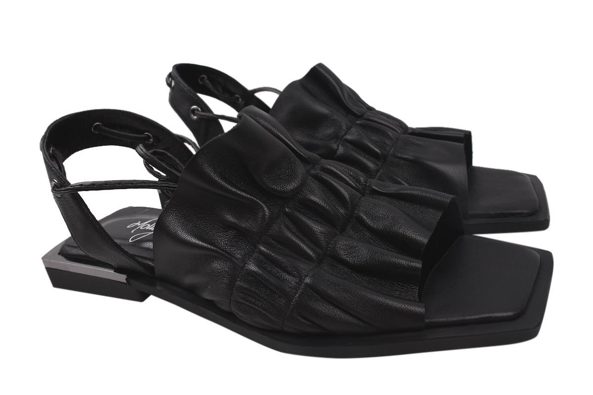 Босоножки женские на каблуке Molly Bessa из натуральной кожы, цвет черный Турция