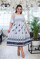 """Платье больших размеров """" Крестьянка """" Dress Code, фото 1"""
