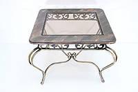 Стол прямоугольный закругленный МДФ + стекло.