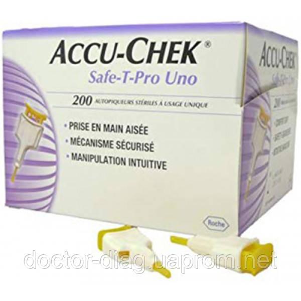 Roche (Accu-Chek) Система для проколювання Accu-Chek® Safe-T-Pro Uno 200 шт.