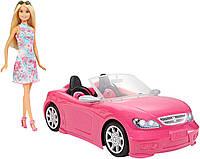 Блестящий гламурный Кабриолет с куклой Barbie FPR57