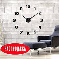 Часы 3D настенные Timelike кварцевые Арабские Черные 100 см