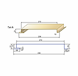 Металлосайдинг вертикальный | 0,5 мм | Тип А | PSM profile | RAL 9006, фото 3