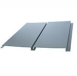 Металлосайдинг вертикальный | 0,5 мм | Тип А | PSM profile | RAL 9006, фото 2