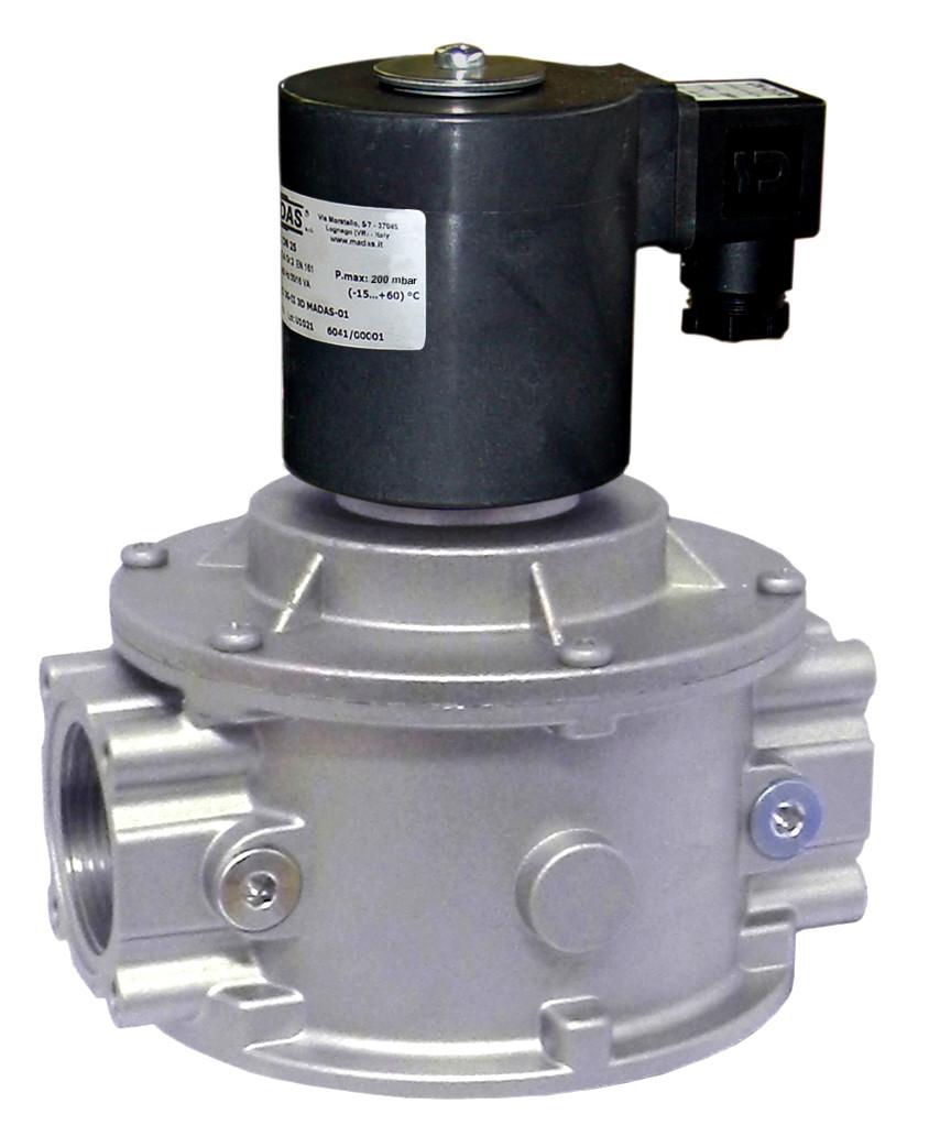 Электромагнитный клапан EVPC/NC, DN50, P=360 mbar (MADAS)