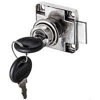 Заготовка для Бизиборда Замочек Мебельный с ключиками Врезной Замок для дверок Замочок Хром для бізіборда