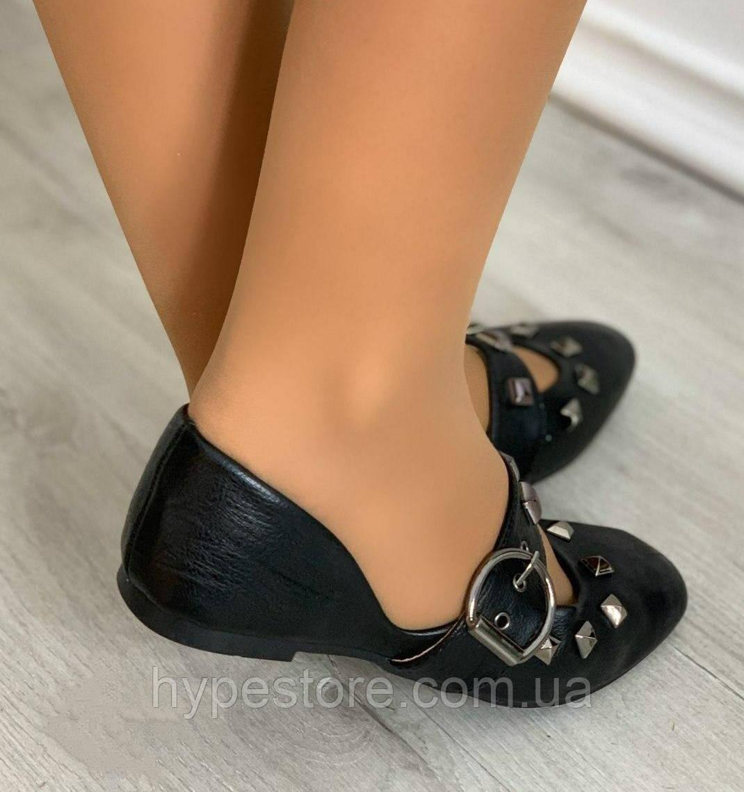 Модельные женские балетки, туфли черного цвета, см.замеры в описании!!!
