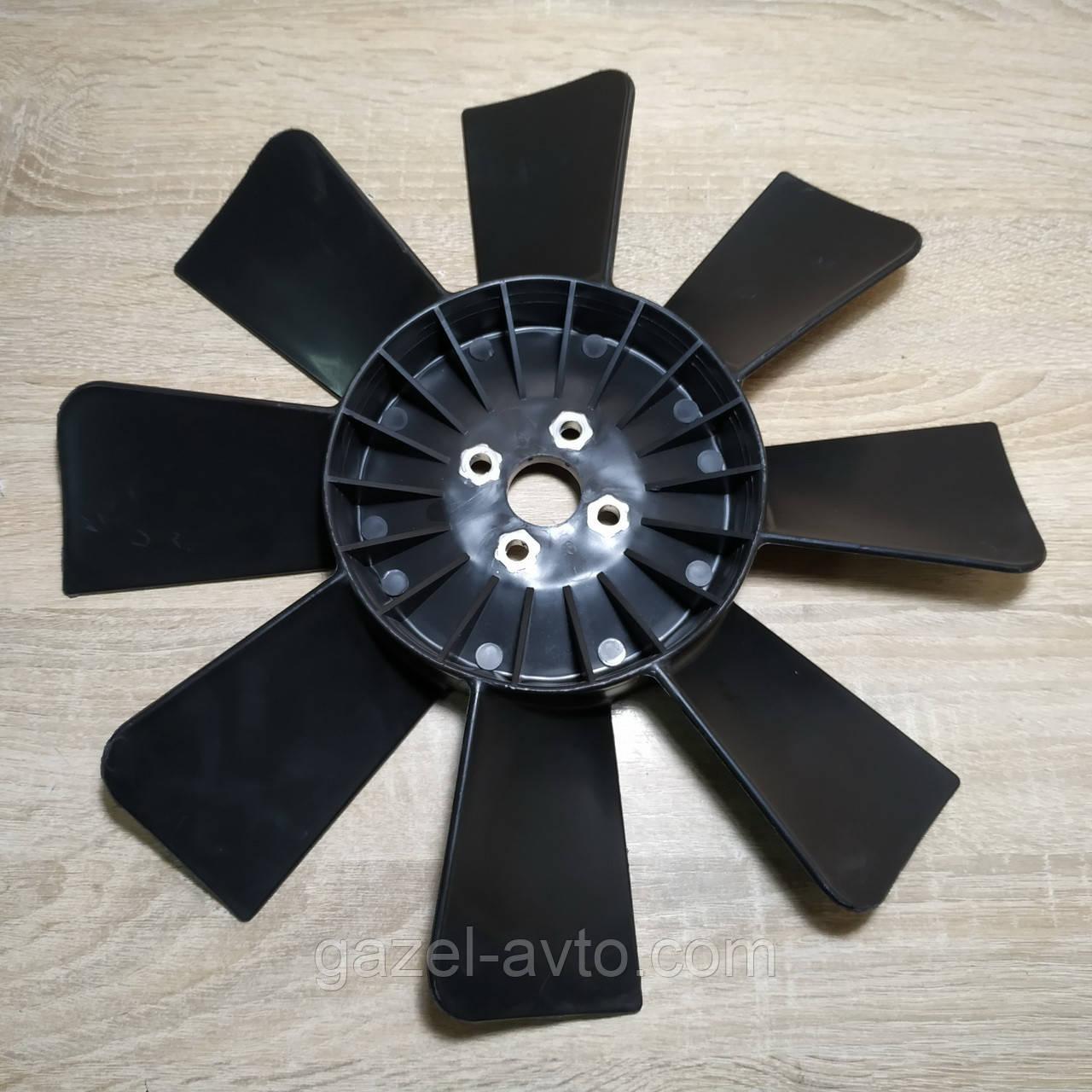 Вентилятор системы охлаждения (крыльчатка) Газель,Соболь 8 лопастной черный (пр-во ГАЗ)