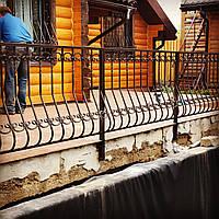 Кованые перила для террасы АРТ КП № 45, фото 1