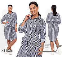 Платье-рубашка из суперсофта. Впереди три кармана. Застёжка на пуговицах, р. 46,48,50,52,54 код 3192Ф, фото 1